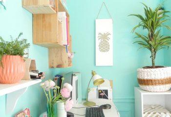 décoration tropical espace de travail